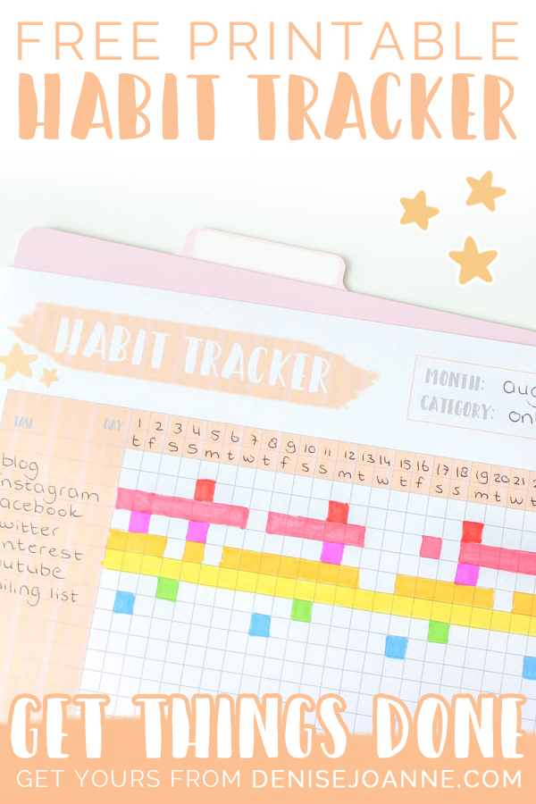 free printable habit tracker pastel