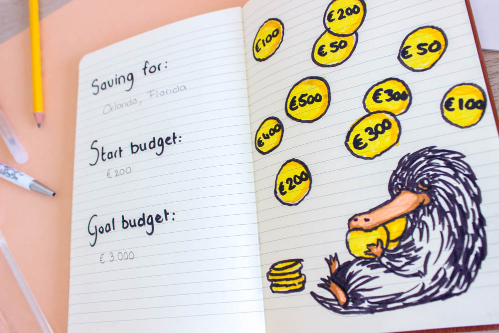 harry potter bullet journal niffler budget tracker