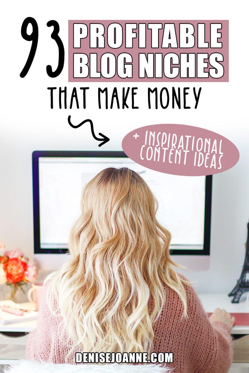 "93 profitable blog niches that make money"""