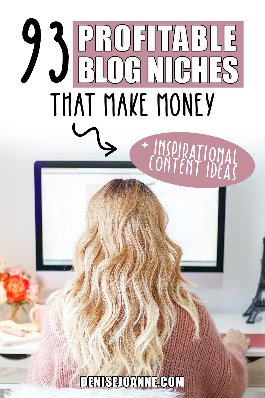 93 profitable blog niches that make money