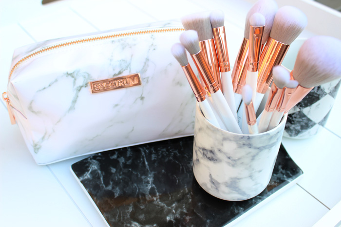 Spectrum Marbleous makeup brush set