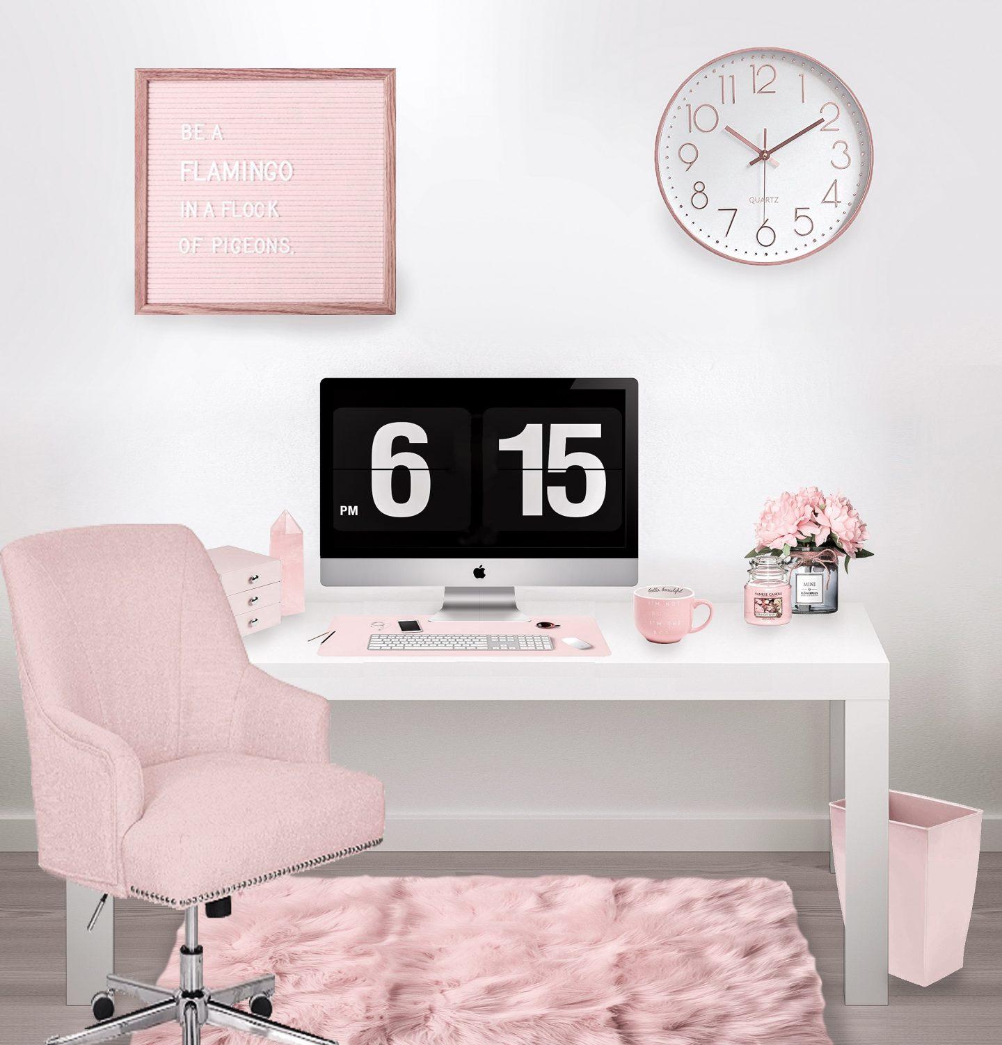 Pink Office Decor: The Best Picks For A Girl Boss Desk